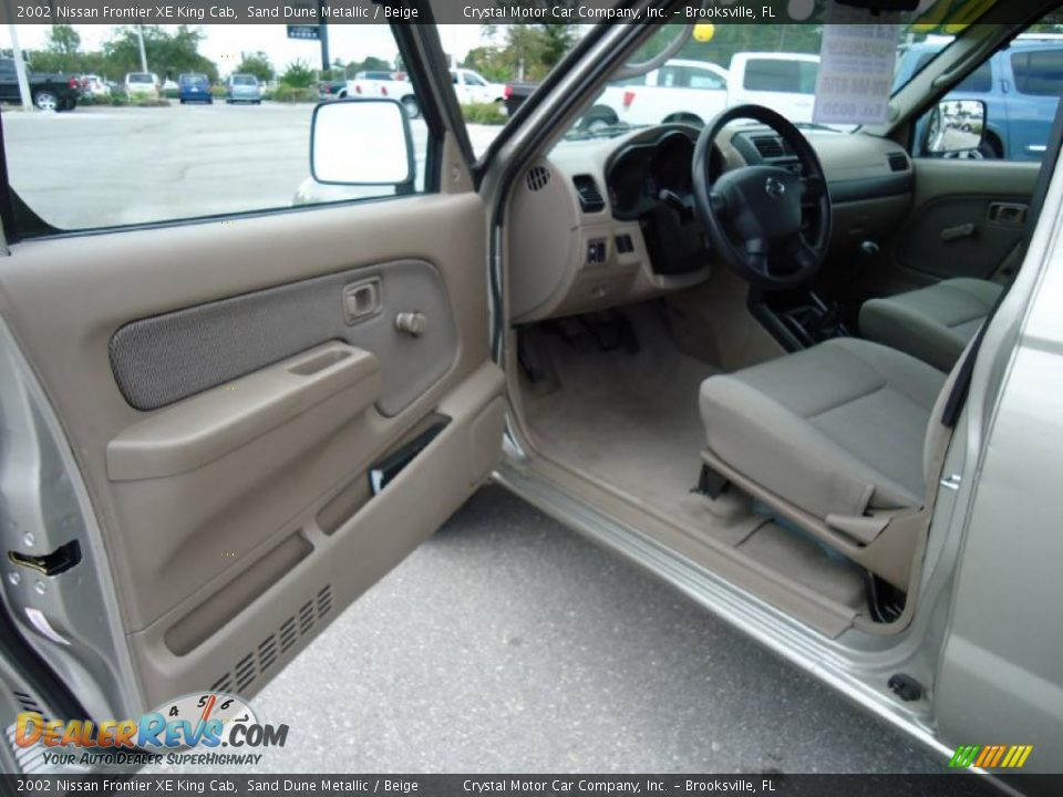 beige interior 2002 nissan frontier xe king cab photo 4. Black Bedroom Furniture Sets. Home Design Ideas