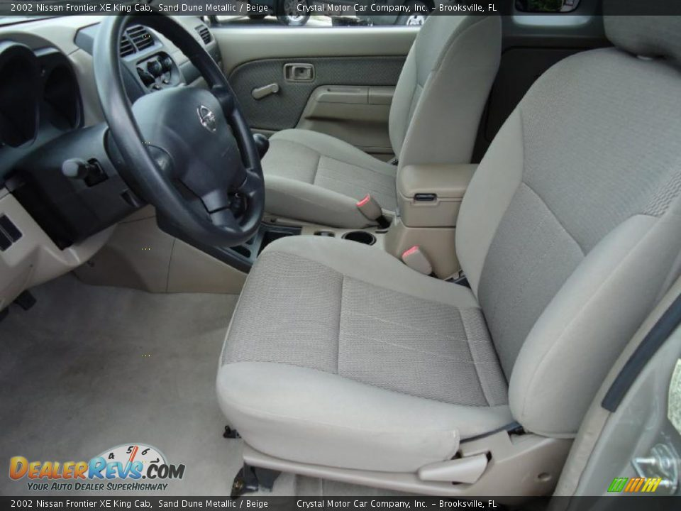 beige interior 2002 nissan frontier xe king cab photo 5. Black Bedroom Furniture Sets. Home Design Ideas