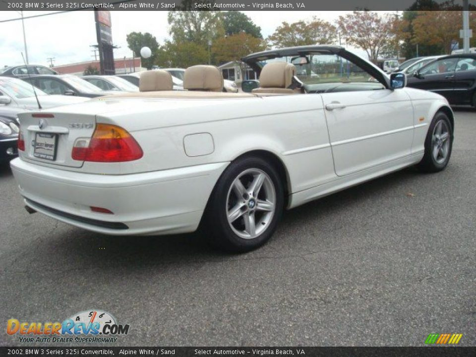 2002 bmw 3 series 325i convertible alpine white sand. Black Bedroom Furniture Sets. Home Design Ideas