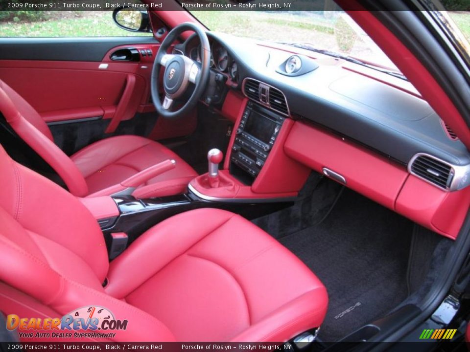 Carrera Red Interior 2009 Porsche 911 Turbo Coupe Photo