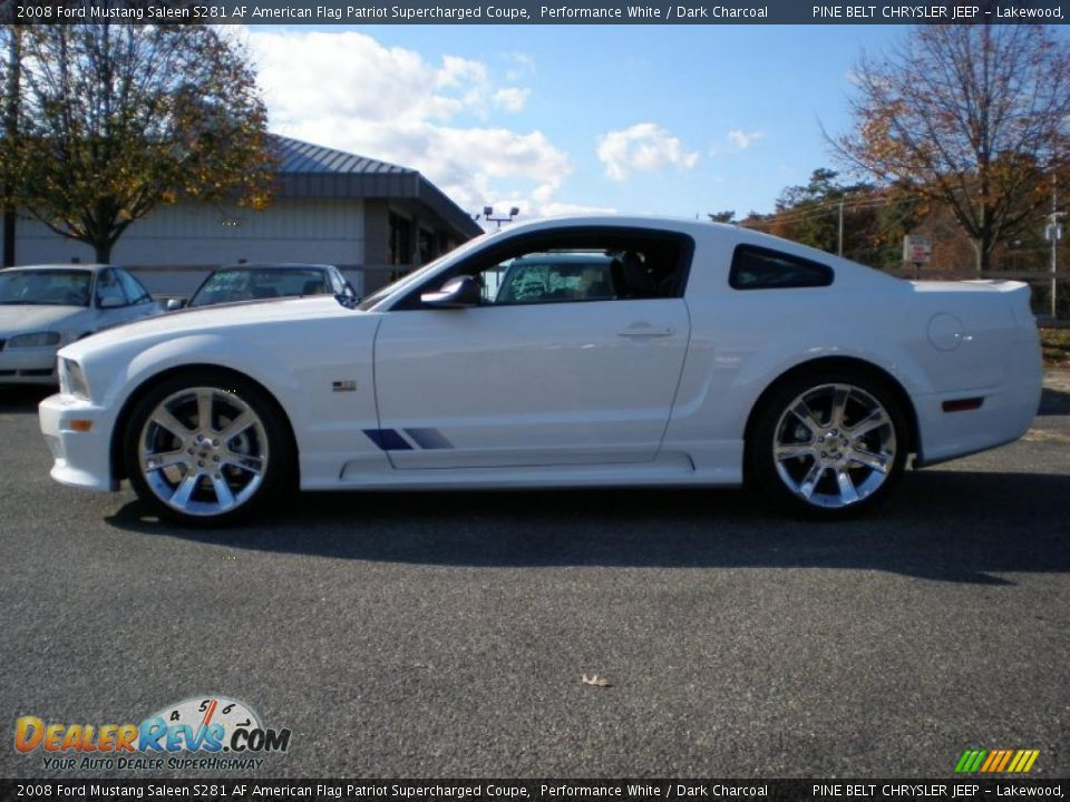 2008 ford mustang saleen s281 af american flag patriot supercharged coupe performance white. Black Bedroom Furniture Sets. Home Design Ideas