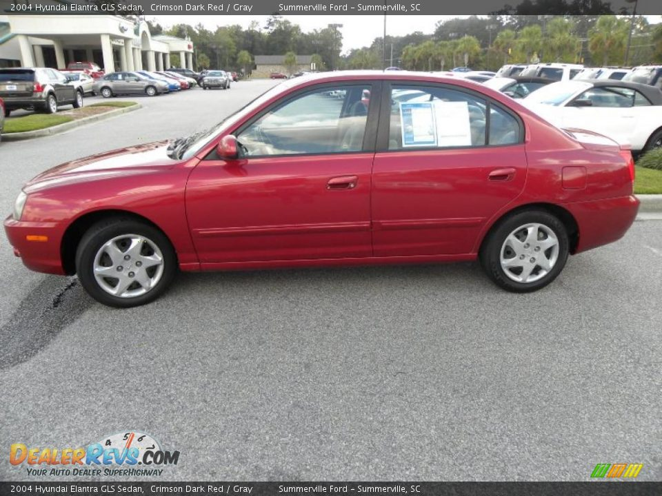 2004 hyundai elantra gls sedan crimson dark red gray. Black Bedroom Furniture Sets. Home Design Ideas