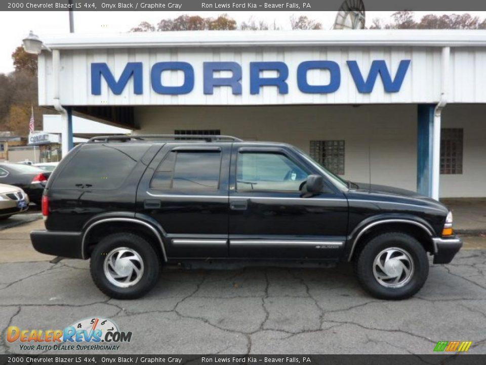 2000 Chevrolet Blazer Ls 4x4 Onyx Black Graphite Gray