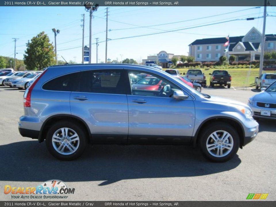 2011 Honda Cr V Ex L Glacier Blue Metallic Gray Photo 6 Dealerrevs Com