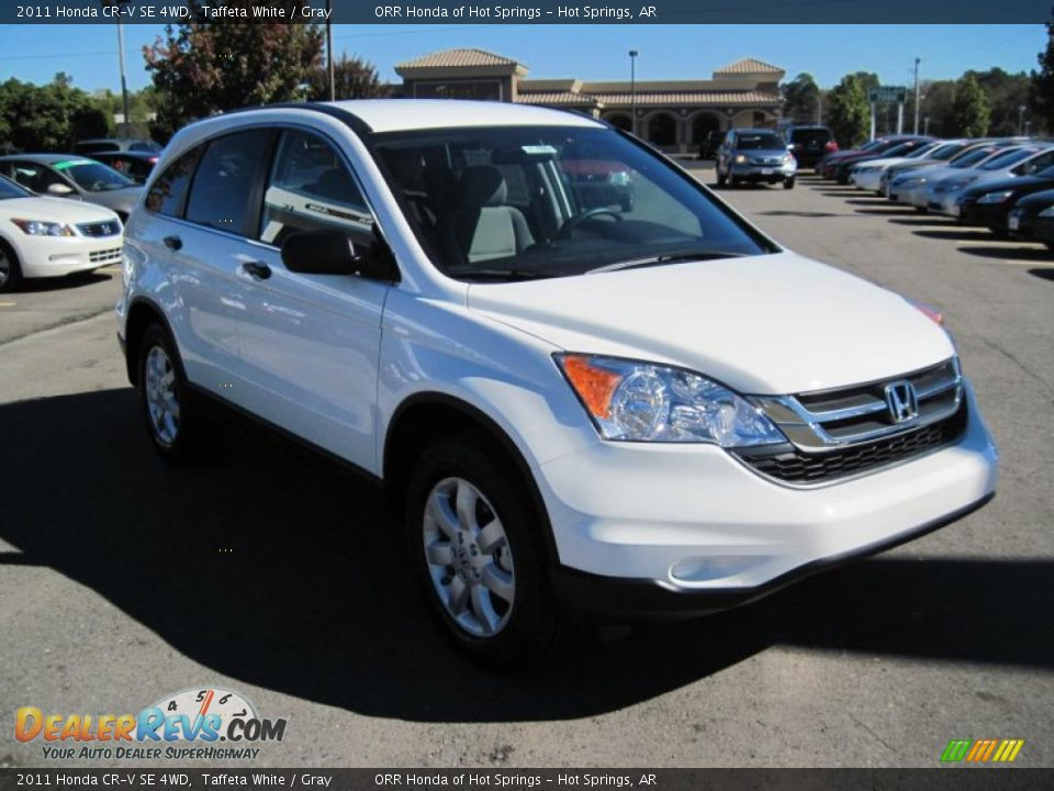 2011 Honda Cr V Se 4wd Taffeta White Gray Photo 7