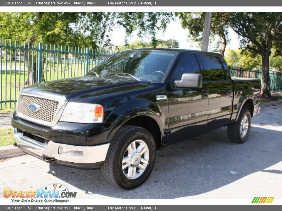 2004 ford f150 lariat supercrew 4x4 black black photo 1. Black Bedroom Furniture Sets. Home Design Ideas