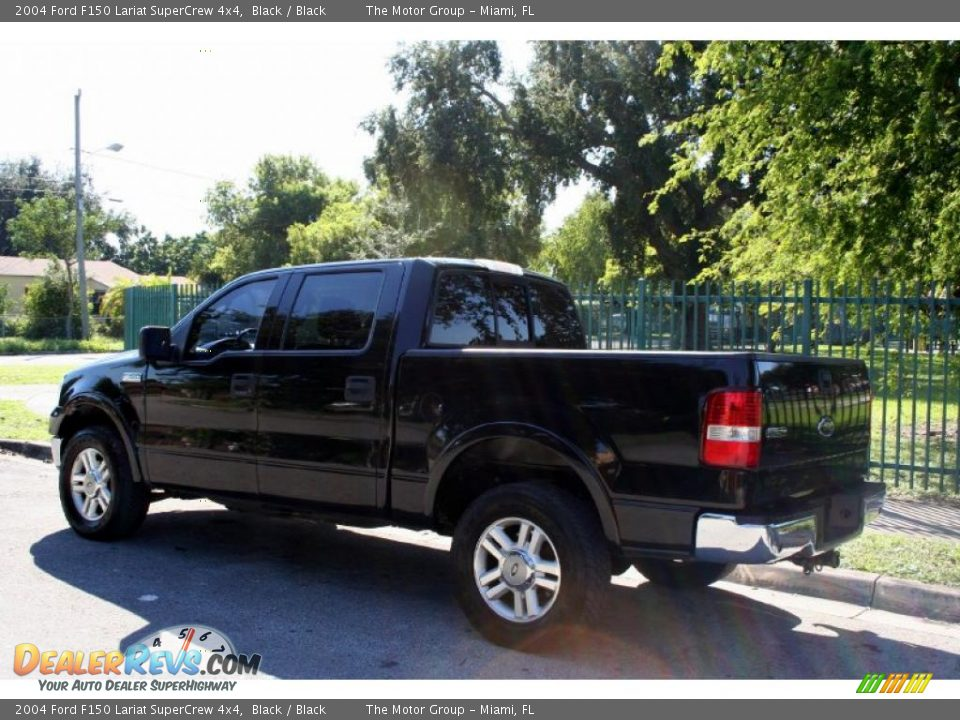 2004 ford f150 lariat supercrew 4x4 black black photo 4. Black Bedroom Furniture Sets. Home Design Ideas