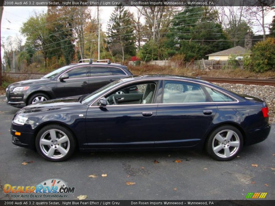 2008 Audi A6 3.2 quattro Sedan Night Blue Pearl Effect / Light Grey ...
