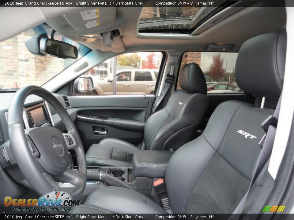 Dark Slate Gray Interior 2010 Jeep Grand Cherokee SRT8