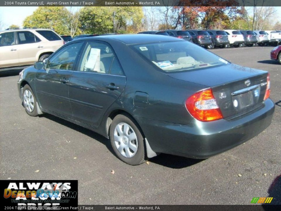 2004 Toyota Camry Le Aspen Green Pearl Taupe Photo 3