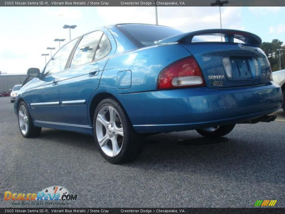 2003 nissan sentra se r vibrant blue metallic stone gray photo 4. Black Bedroom Furniture Sets. Home Design Ideas