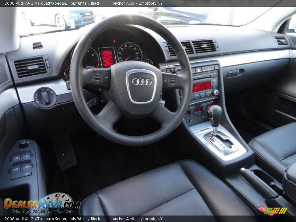 Black Interior 2008 Audi A4 2 0t Quattro Sedan Photo 10