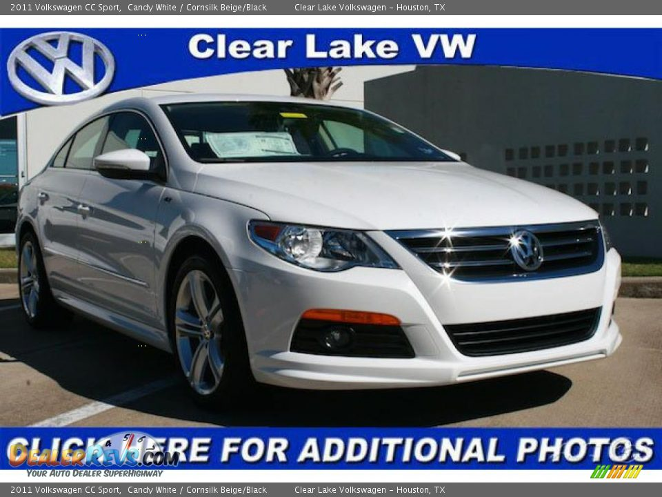 2011 volkswagen cc sport candy white cornsilk beige black photo 1. Black Bedroom Furniture Sets. Home Design Ideas