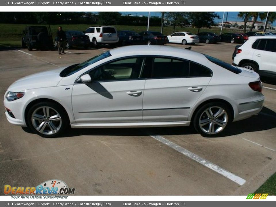 2011 volkswagen cc sport candy white cornsilk beige black photo 4. Black Bedroom Furniture Sets. Home Design Ideas