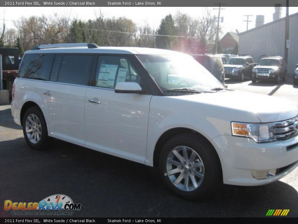 2011 ford flex sel white suede charcoal black photo 3. Black Bedroom Furniture Sets. Home Design Ideas