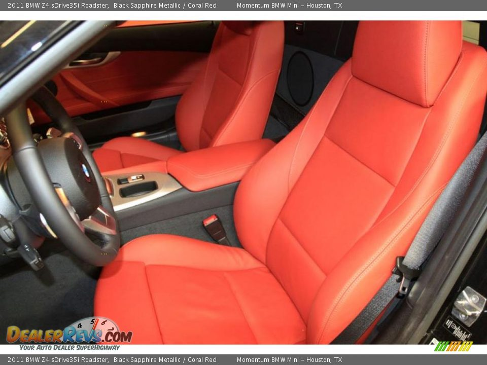 Coral Red Interior 2011 Bmw Z4 Sdrive35i Roadster Photo 5 Dealerrevs Com