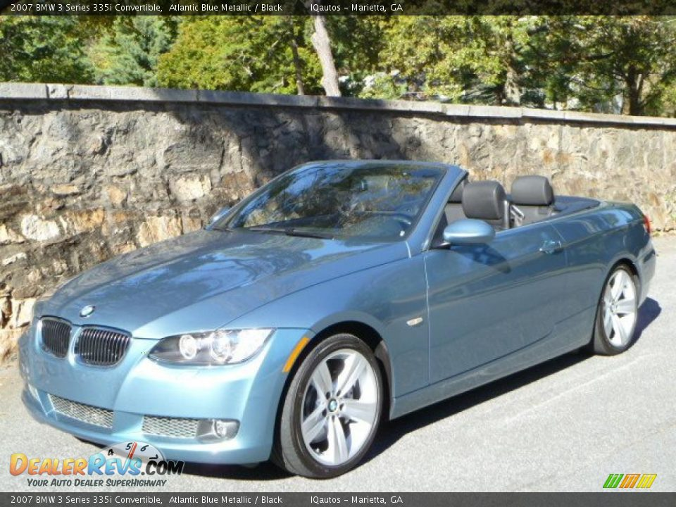 2007 bmw 3 series 335i convertible atlantic blue metallic black photo 4. Black Bedroom Furniture Sets. Home Design Ideas