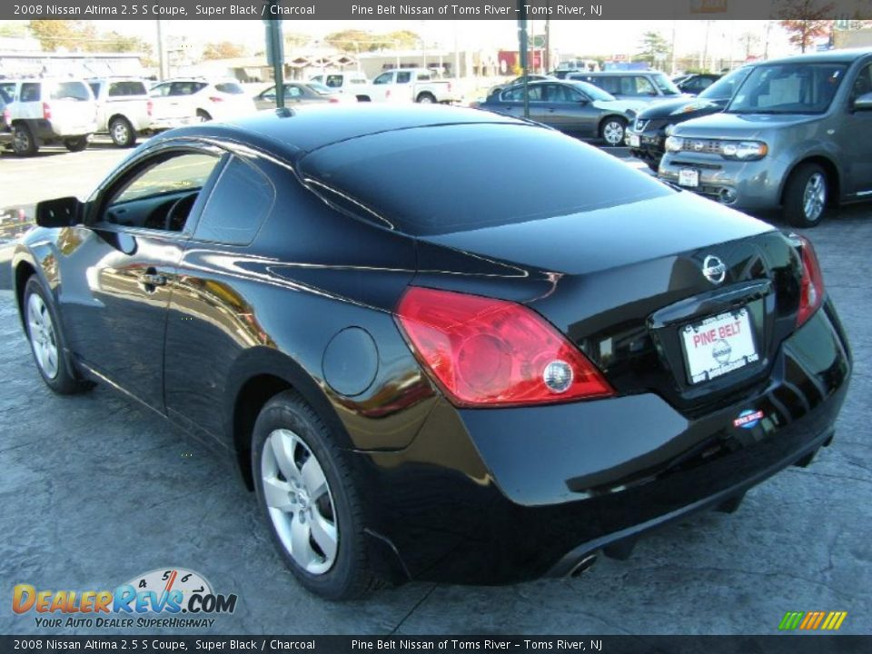 2008 nissan altima 2 5 s coupe super black charcoal photo 5. Black Bedroom Furniture Sets. Home Design Ideas