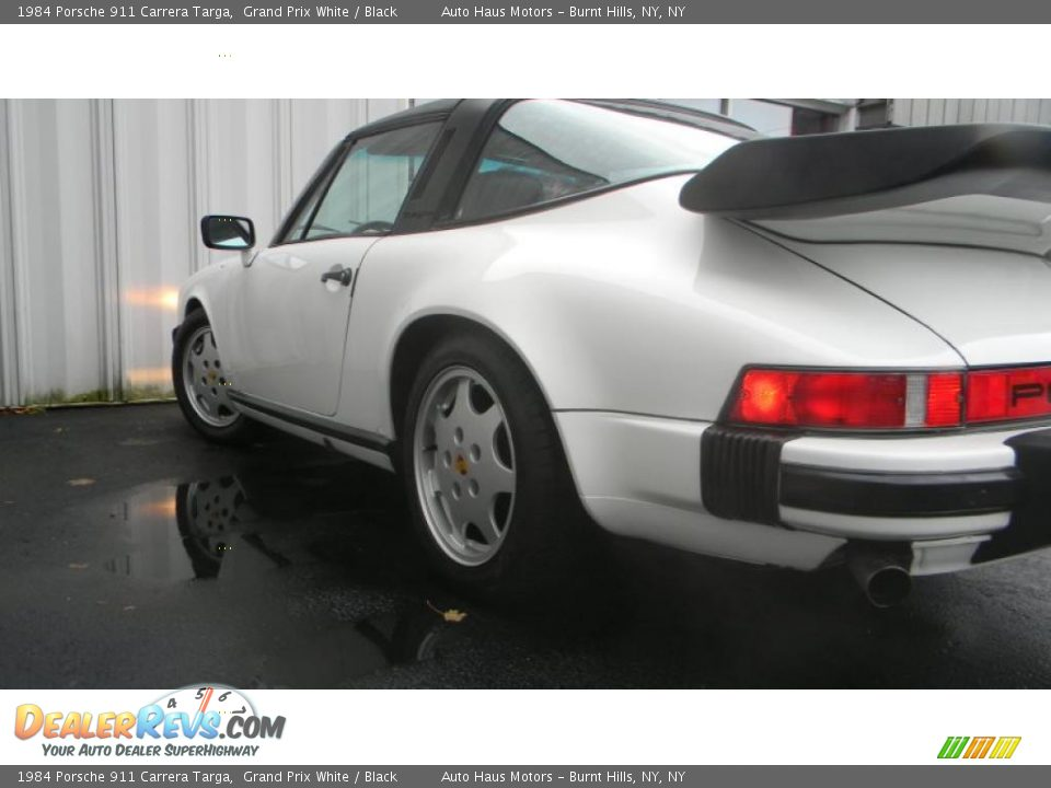 1984 porsche 911 carrera targa grand prix white black. Black Bedroom Furniture Sets. Home Design Ideas