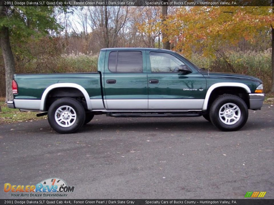 2001 dodge dakota slt quad cab 4x4 forest green pearl. Black Bedroom Furniture Sets. Home Design Ideas