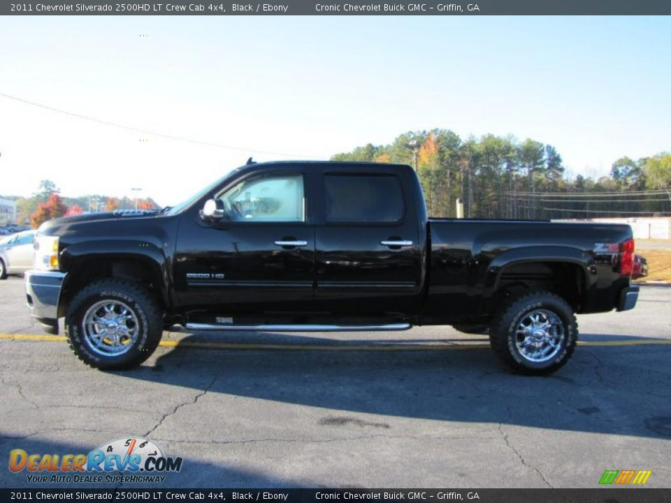 2011 chevrolet silverado 2500hd lt crew cab 4x4 black ebony photo 4. Black Bedroom Furniture Sets. Home Design Ideas
