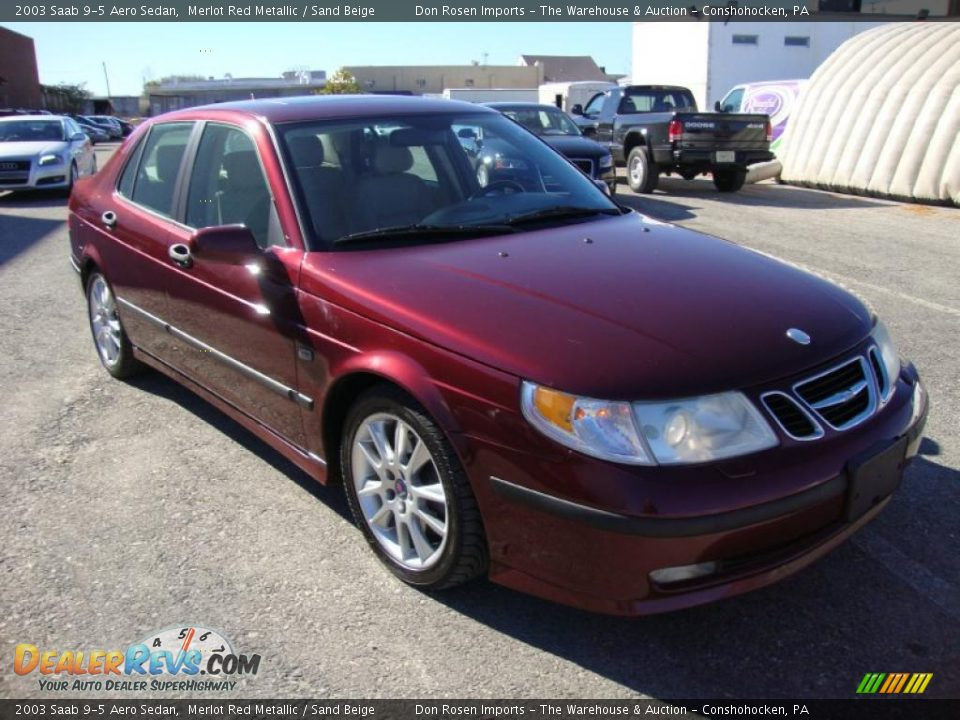 Merlot Red Metallic 2003 Saab 9 5 Aero Sedan Photo 4 Dealerrevs