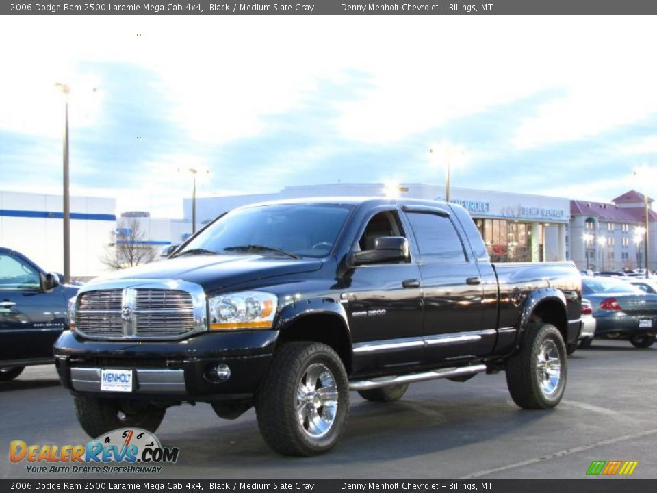 front 3 4 view of 2006 dodge ram 2500 laramie mega cab 4x4. Black Bedroom Furniture Sets. Home Design Ideas