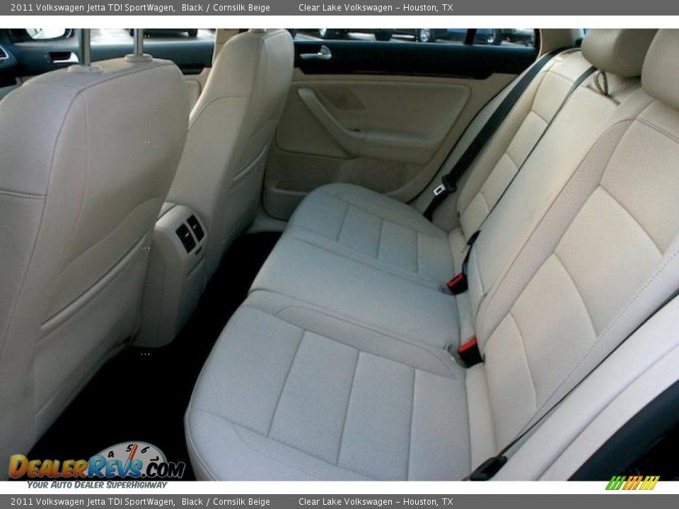 Cornsilk Beige Interior 2011 Volkswagen Jetta Tdi Sportwagen Photo 6