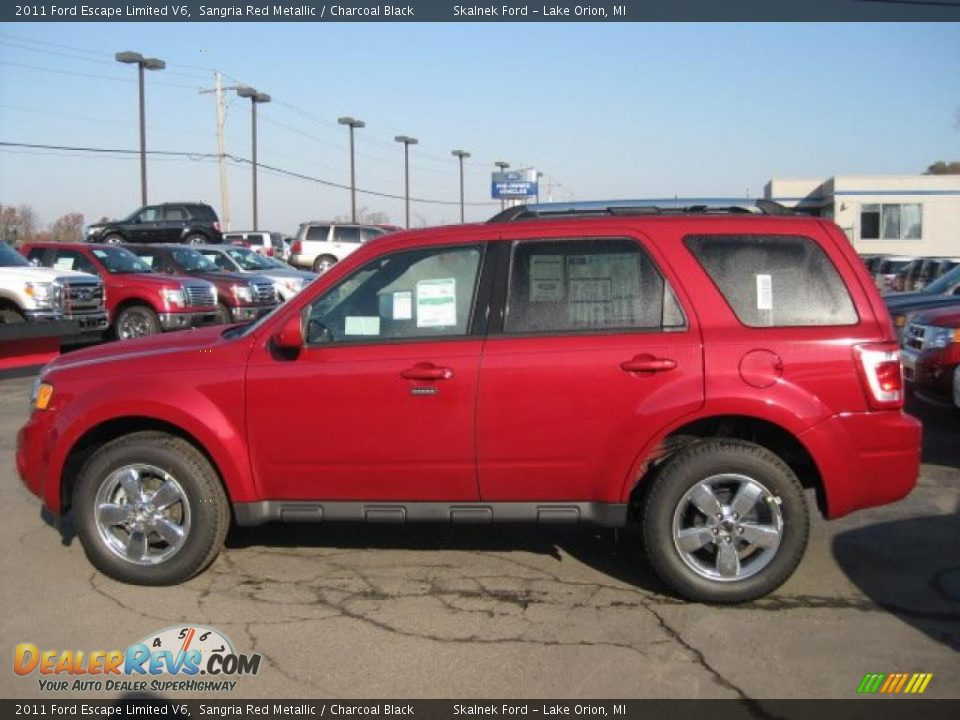 Sangria Red Metallic 2011 Ford Escape Limited V6 Photo 4