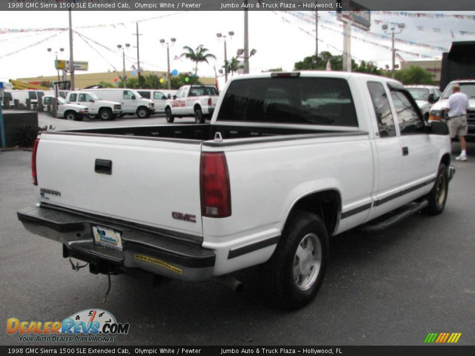 1998 gmc sierra 1500 sle extended cab olympic white. Black Bedroom Furniture Sets. Home Design Ideas
