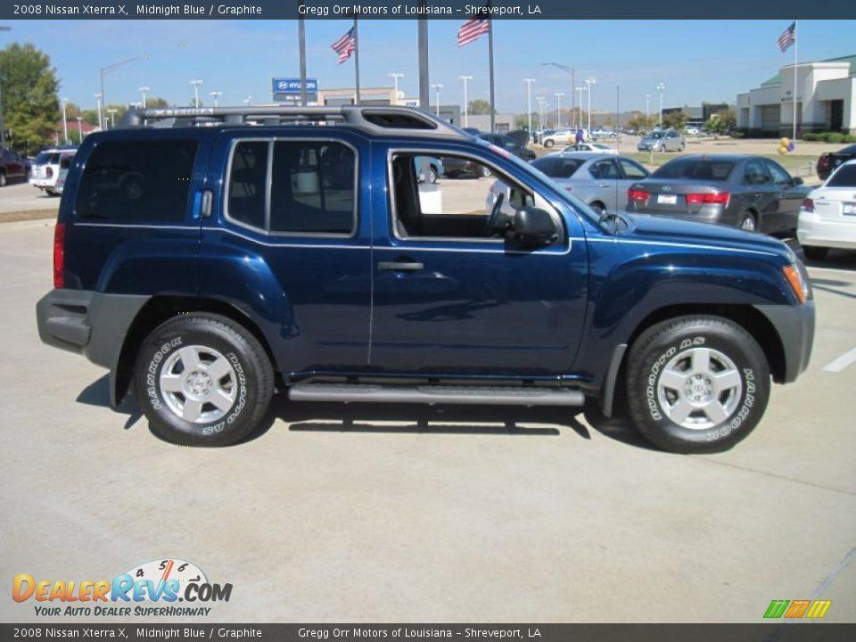 2008 Nissan Xterra X Midnight Blue Graphite Photo 4