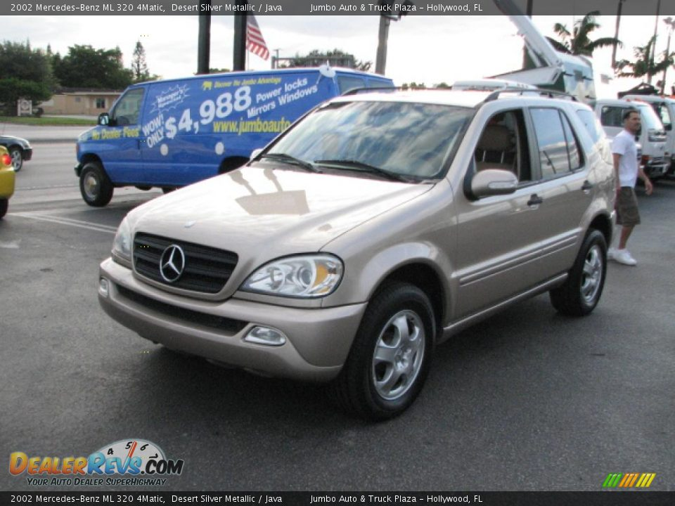 2002 mercedes benz ml 320 4matic desert silver metallic for Mercedes benz ml 2002