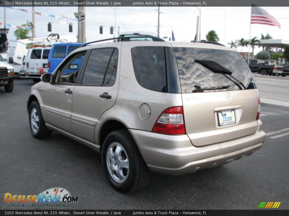 2002 mercedes benz ml 320 4matic desert silver metallic for Mercedes benz ml 320 2002