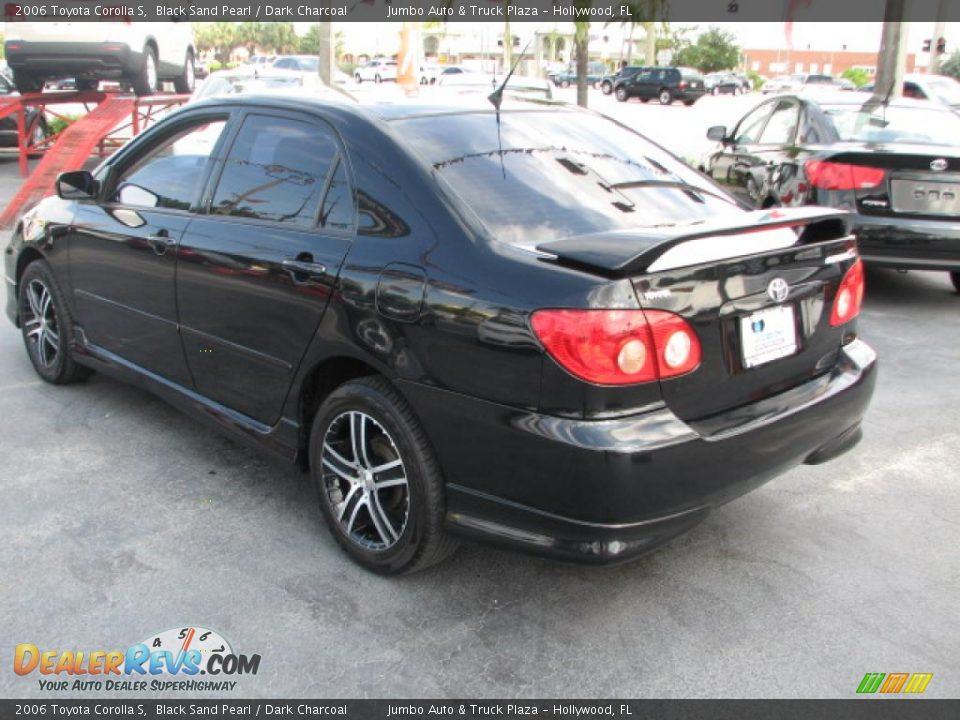 2006 Toyota Corolla S Black Sand Pearl Dark Charcoal