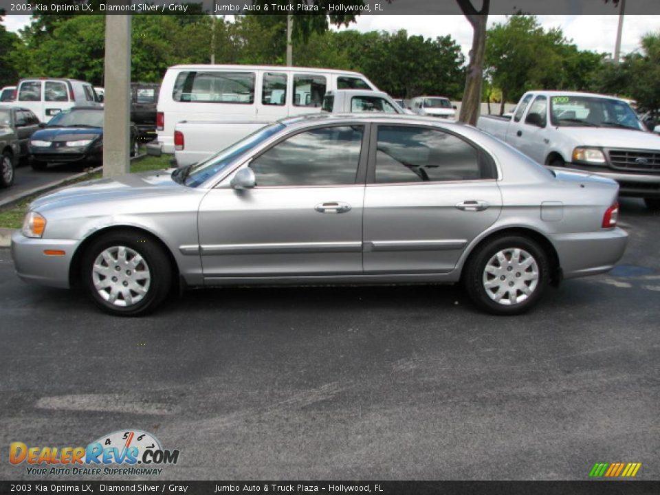 2003 Kia Optima Lx Diamond Silver Gray Photo 5