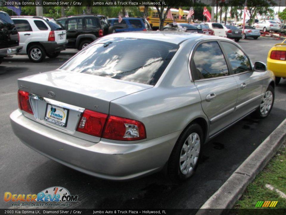 Used Kia Optima >> 2003 Kia Optima LX Diamond Silver / Gray Photo #8 ...