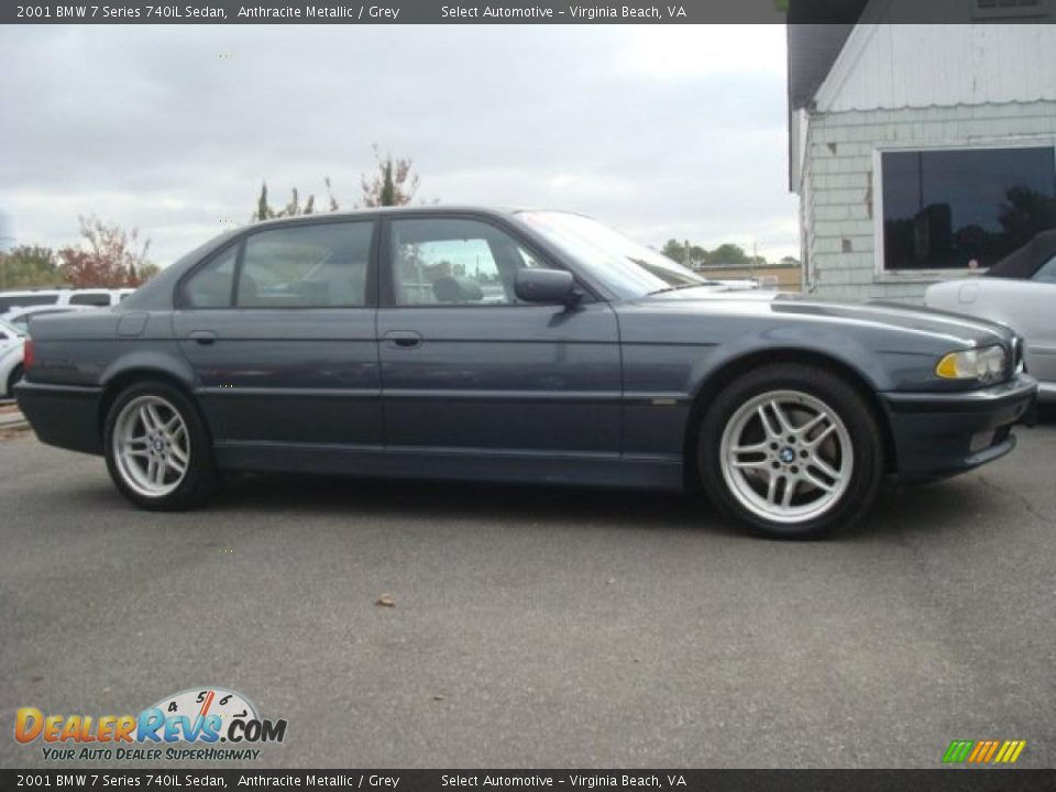 2001 Bmw 7 Series 740il Sedan Anthracite Metallic Grey