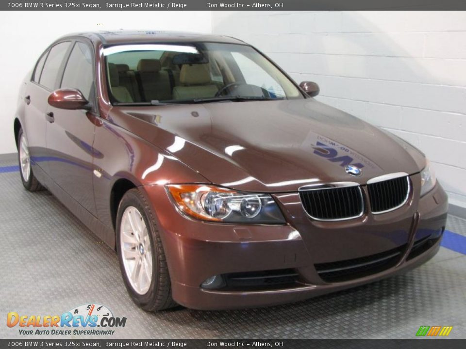 2006 bmw 3 series 325xi sedan barrique red metallic beige photo 1. Black Bedroom Furniture Sets. Home Design Ideas