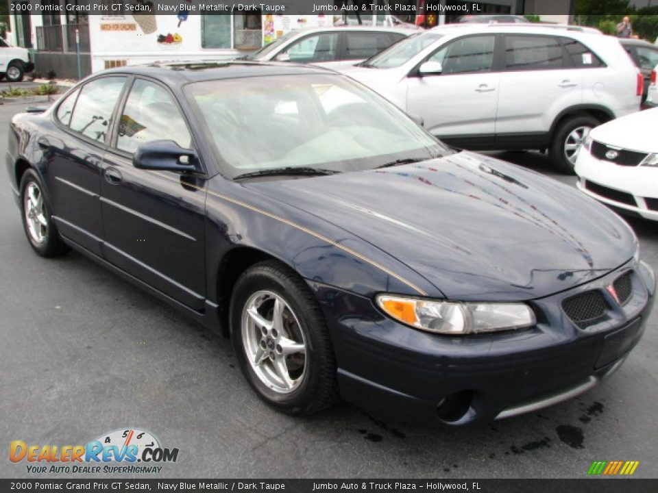 2000 pontiac grand prix gt sedan navy blue metallic dark taupe photo 1. Black Bedroom Furniture Sets. Home Design Ideas