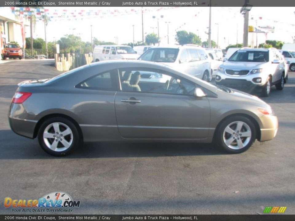 2006 honda civic ex coupe shoreline mist metallic gray. Black Bedroom Furniture Sets. Home Design Ideas