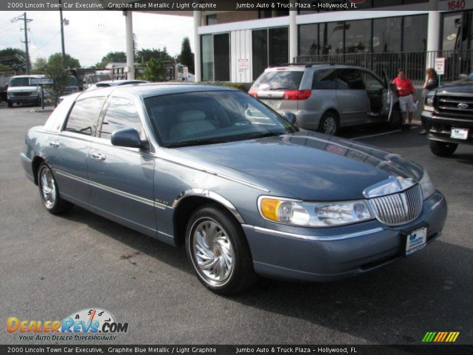 2000 lincoln town car executive graphite blue metallic