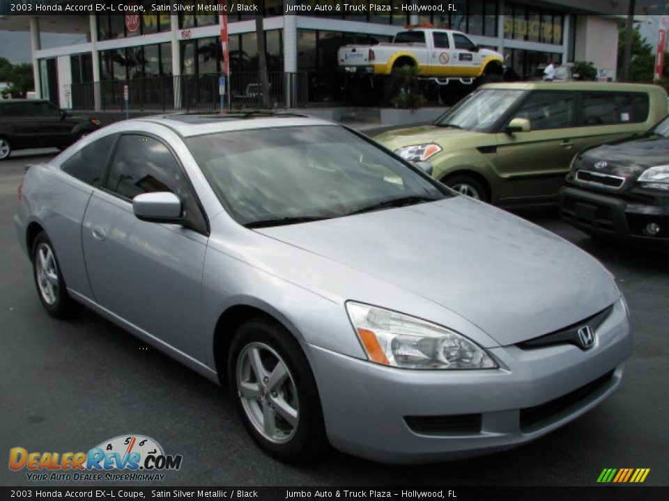 2003 honda accord ex l coupe satin silver metallic black photo 1. Black Bedroom Furniture Sets. Home Design Ideas