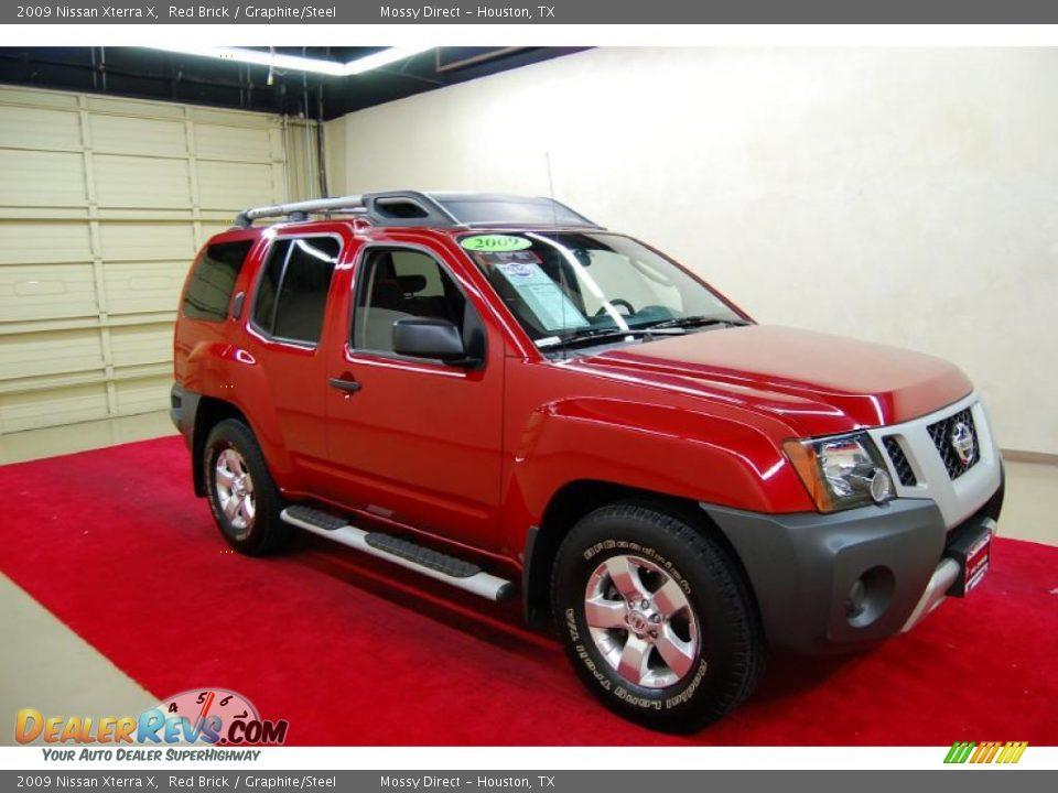 2009 Nissan Xterra X Red Brick Graphite Steel Photo 1