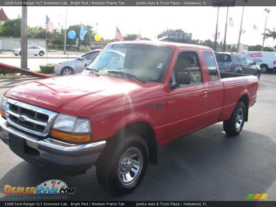 1998 ford ranger xlt extended cab bright red medium prairie tan photo 5. Black Bedroom Furniture Sets. Home Design Ideas