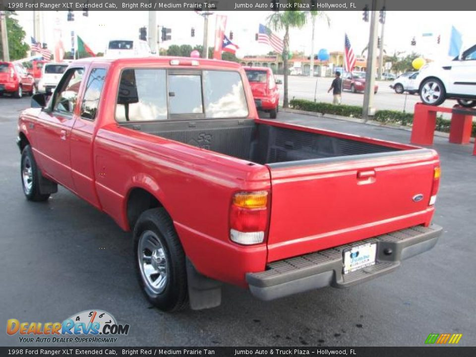 1998 ford ranger xlt extended cab bright red medium prairie tan photo 6. Black Bedroom Furniture Sets. Home Design Ideas