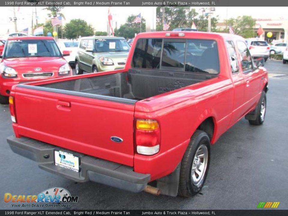 1998 ford ranger xlt extended cab bright red medium prairie tan photo 9. Black Bedroom Furniture Sets. Home Design Ideas