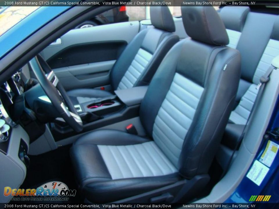 Charcoal Black Dove Interior 2008 Ford Mustang Gt Cs California Special Convertible Photo 8