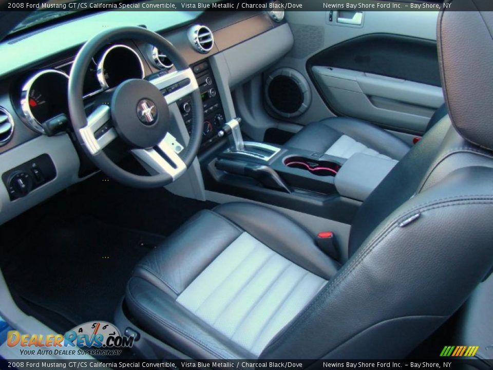 Charcoal Black Dove Interior 2008 Ford Mustang Gt Cs California Special Convertible Photo 9