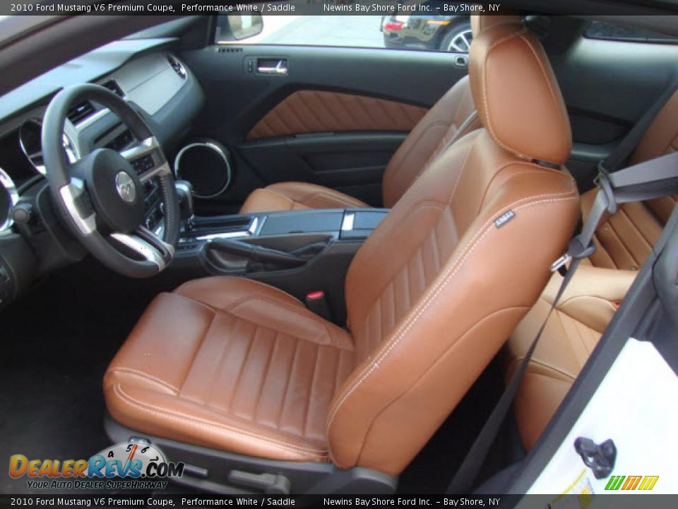 saddle interior 2010 ford mustang v6 premium coupe photo 8