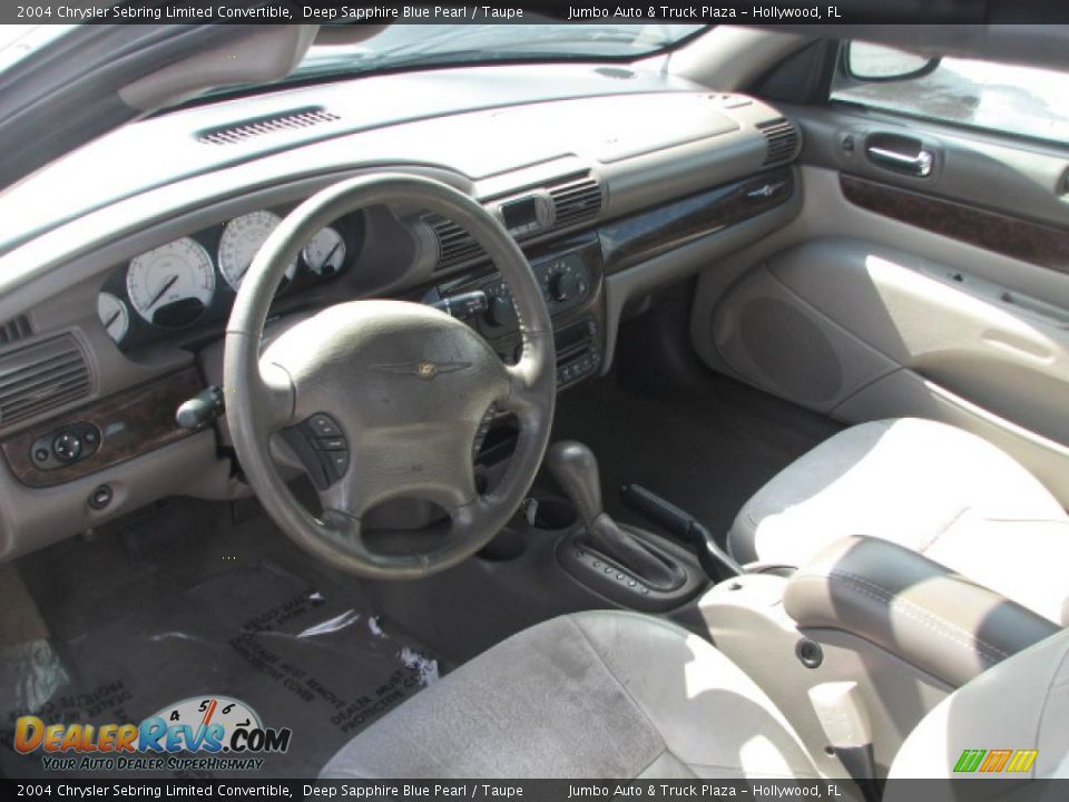 Taupe Interior 2004 Chrysler Sebring Limited Convertible Photo 14